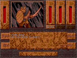 In game image of Heimdall on the Sega CD.