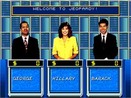 In game image of Jeopardy on the Sega CD.