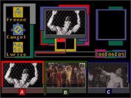 In game image of Make My Video: Marky Mark and the Funky Bunch on the Sega CD.