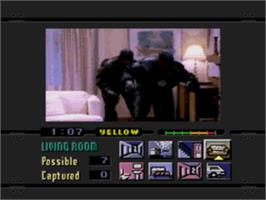 In game image of Night Trap on the Sega CD.