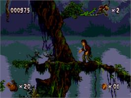 In game image of Pitfall: The Mayan Adventure on the Sega CD.