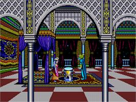 In game image of Prince of Persia on the Sega CD.