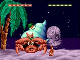 In game image of Puggsy on the Sega CD.