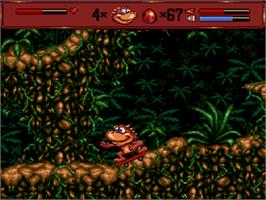 In game image of Radical Rex on the Sega CD.