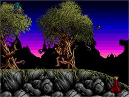 In game image of Shadow of the Beast 2 on the Sega CD.