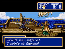 In game image of Shining Force CD on the Sega CD.