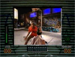 In game image of Slam City with Scottie Pippen on the Sega CD.