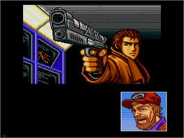 In game image of Snatcher on the Sega CD.