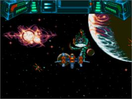 In game image of Soulstar on the Sega CD.