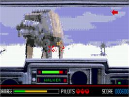 In game image of Star Wars: Rebel Assault on the Sega CD.