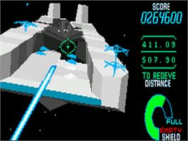 In game image of Starblade on the Sega CD.
