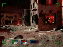In game image of Surgical Strike on the Sega CD.