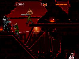 In game image of Terminator on the Sega CD.