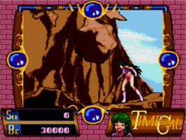In game image of Time Gal on the Sega CD.
