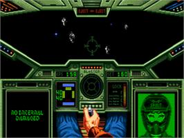 In game image of Wing Commander on the Sega CD.