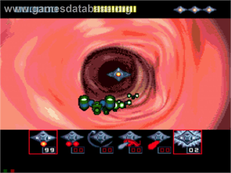 In game image of Microcosm on the Sega CD.