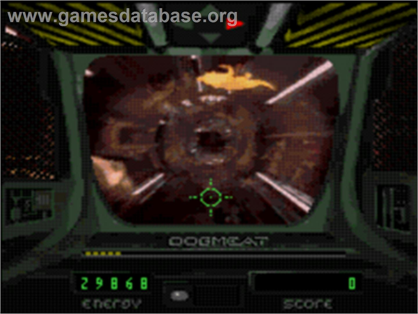 In game image of Sewer Shark on the Sega CD.
