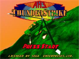 Title screen of AH-3 Thunderstrike on the Sega CD.
