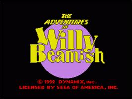 Title screen of Adventures of Willy Beamish on the Sega CD.