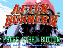 Title screen of After Burner III on the Sega CD.