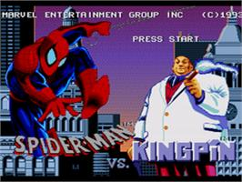 Title screen of Amazing Spider-Man vs. The Kingpin on the Sega CD.