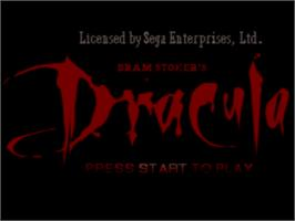 Title screen of Bram Stoker's Dracula on the Sega CD.