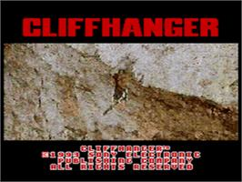 Title screen of Cliffhanger on the Sega CD.