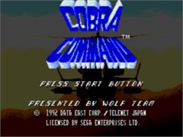 Title screen of Cobra Command on the Sega CD.