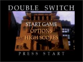 Title screen of Double Switch on the Sega CD.
