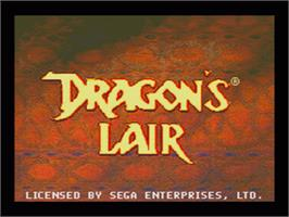 Title screen of Dragon's Lair on the Sega CD.
