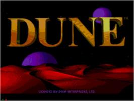 Title screen of Dune on the Sega CD.