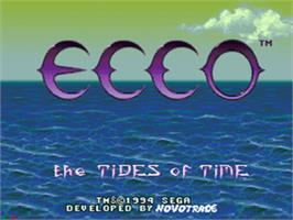 Title screen of Ecco 2: The Tides of Time on the Sega CD.