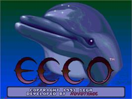Title screen of Ecco the Dolphin on the Sega CD.