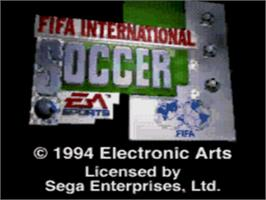 Title screen of FIFA International Soccer on the Sega CD.