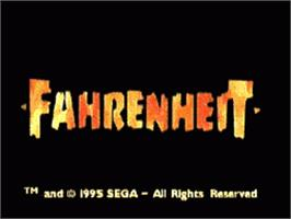 Title screen of Fahrenheit on the Sega CD.