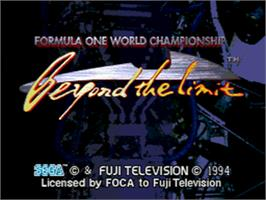 Title screen of Formula 1 World Championship: Beyond the Limit on the Sega CD.
