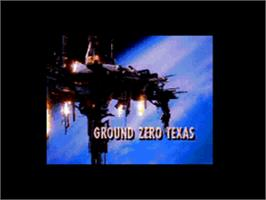 Title screen of Ground Zero Texas on the Sega CD.