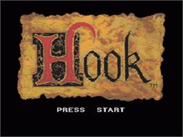 Title screen of Hook on the Sega CD.