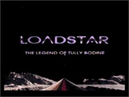 Title screen of Loadstar: The Legend of Tully Bodine on the Sega CD.