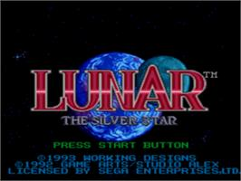 Title screen of Lunar: Silver Star on the Sega CD.