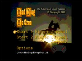 Title screen of Mad Dog McCree on the Sega CD.