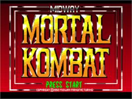 Title screen of Mortal Kombat on the Sega CD.