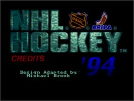 Title screen of NHL '94 on the Sega CD.