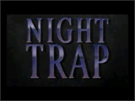 Title screen of Night Trap on the Sega CD.