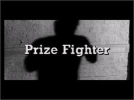 Title screen of Prize Fighter on the Sega CD.
