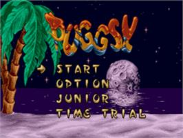 Title screen of Puggsy on the Sega CD.