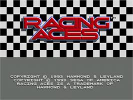 Title screen of Racing Aces on the Sega CD.