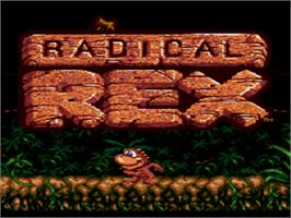 Title screen of Radical Rex on the Sega CD.