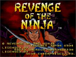 Title screen of Revenge of the Ninja on the Sega CD.