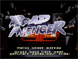 Title screen of Road Avenger on the Sega CD.